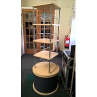 Rotating Shop Display Stand Gondola Heavy Duty Free Standing