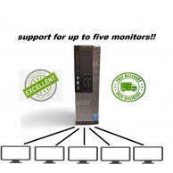 Dell Optiplex 7020 up to 5 Monitor Support Core i5 3.3GHZ 8GB RAM 240SSD Windows 10 Pro