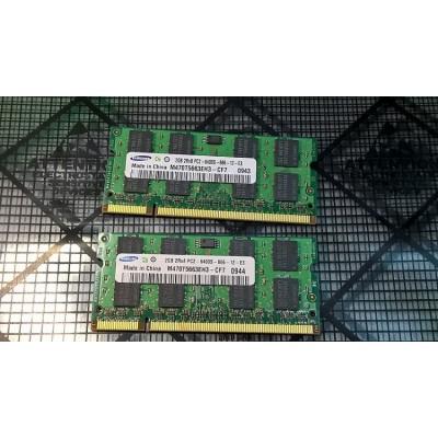4GB (2x2GB) Samsung DDR2 2Rx8 PC2-6400S-666-12-E3 Laptop Ram Memory Sodimm