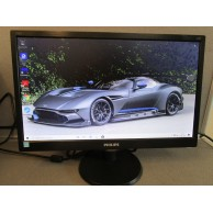 "Phillips 193V5L 'Grade A' 18.5"" Viewable Black LED Monitor"