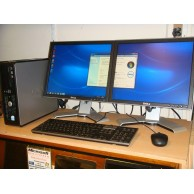 "Dell Optiplex 760 Dual Screen Win 7 Sytem 2GB Ram c/w 2 x17"" LCD Monitors"