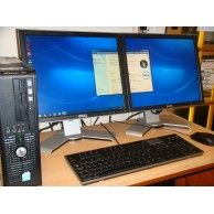 "Dell Optiplex 760 Dual Screen Win 7 Sytem 4GB Ram c/w 2 x17"" LCD Monitors"