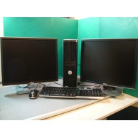 "Dell Optiplex 780 Core 2 Duo 2.93ghz Dual 19"" Screens 4GB RAM 160gb HDD WIndows 7 or Windows 10"